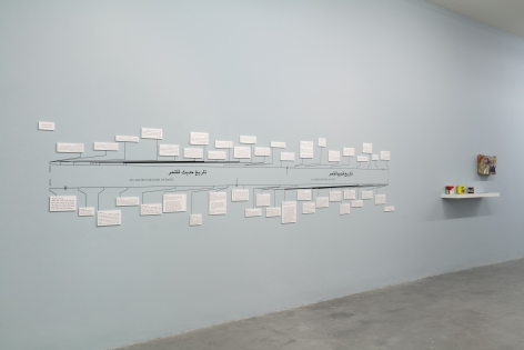Dispute Between the Tamarisk and the Date Palm,Michael Rakowitz, Installation view at REDCAT, Los Angeles, 2019