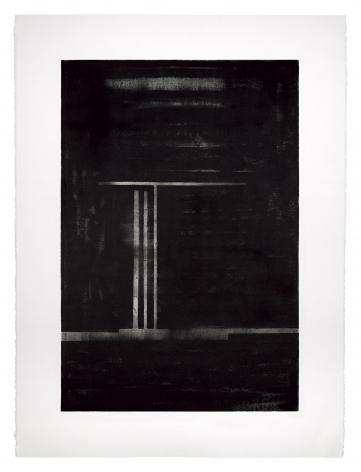 Seher Shah, Night, 2018, Oil on Stonehenge white rag paper, 55.9 x 76.2 cm