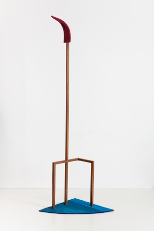 Ana Mazzei, Candle, 2020, Painted wood (peroba mica and plywood) and acrylic on canvas