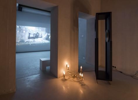 Shadi Habib Allah, Installation view atTamawuj, Sharjah Biennial 13, Sharjah, UAE, 2017