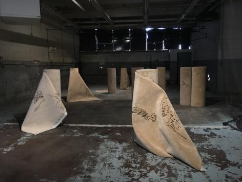 Hera Büyüktaşçıyan, Reveries of an Underground Forest,2019, Carpets, Dimension Variable