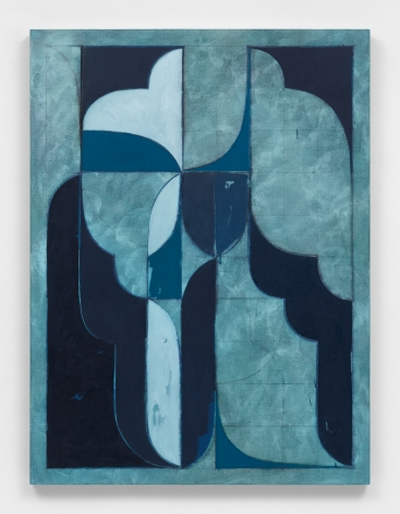 Kamrooz Aram, Untitled (Arabesque Composition), 2021, Oil, oil crayon and pencil on linen, 137.16 x 101.6 cm