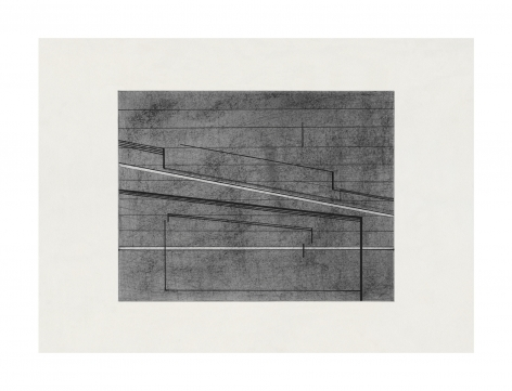 Seher Shah, Variations in Grey, 2020-2021, Graphite dust and ink on ivory Russian paper, 21 x 29 cm