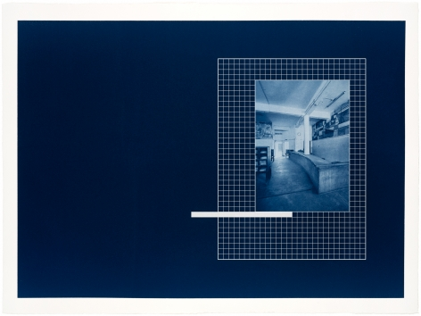 Seher Shah in collaboration with Randhir Singh,DhakaLibrary(detail),2018, Portfolio of 9 Cyanotype prints on Arches Aquarelle paper