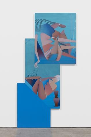 Maryam Hoseini,Hello-Goodbye Bad Dreams, 2020, Acrylic, ink and pencil on wood panel