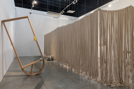 Split Ends,Afra Al Dhaheri, Installation view at Green Art Gallery, Dubai, 2021