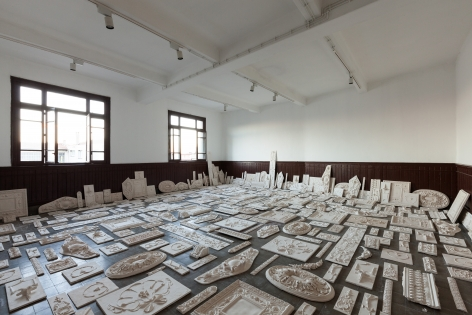Michael Rakowitz,The Flesh Is Yours, The Bones Are Ours, 2015, Installation view at Galata Greek Primary School, 14th Istanbul Biennial, Turkey, 2015