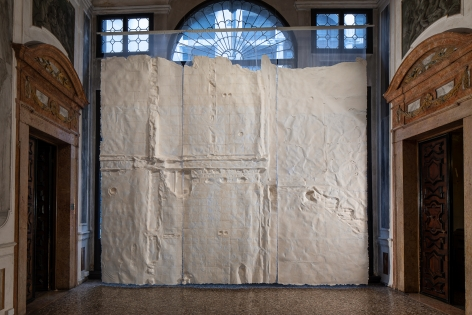 Nazgol Ansarinia,Installation view at TheSparkisYou: Parasol unit in Venice, Italy, 2019