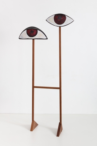 Ana Mazzei, Big Eyes, 2020, Painted wood (peroba mica and plywood)
