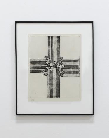 Anwar Jalal Shemza, Meem, 1964, Aquatint, 78 x 57.5 cm