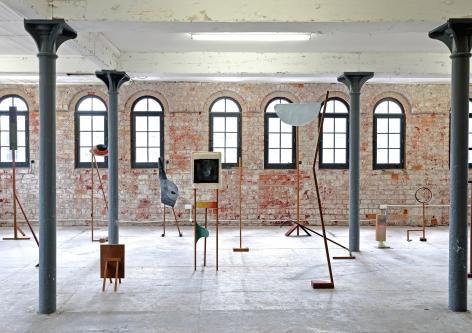 Ana Mazzei, Other Scenes, 2019-2021, Cedar wood, garapeira wood, perobinha wood, plywood, acrylic paint, fabric and varnish