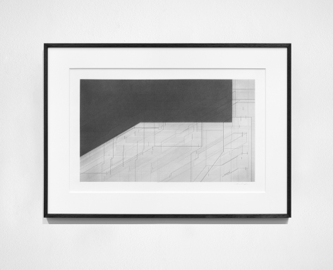 Seher Shah, Foreign dust (Landscape 1), 2019-2020, Graphite dust on paper, 55.9 x 76.2 cm