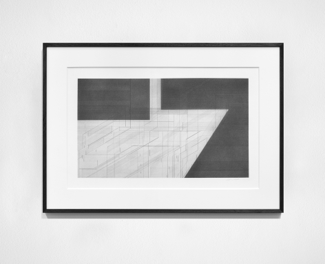 Seher Shah, Foreign dust (Landscape 3), 2019-2020, Graphite dust on paper, 55.9 x 76.2 cm