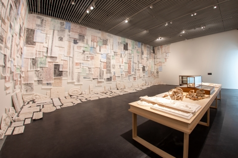 Michael Rakowitz,The flesh is yours, the bones are ours, 2015, Installation view at Jameel Arts Centre, Dubai, UAE, 2020