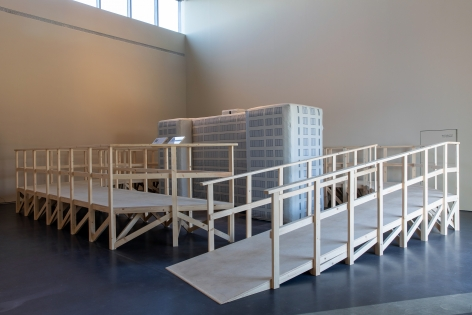 Michael Rakowitz,Dull Roar, 2005, Installation view at Jameel Arts Centre, Dubai, UAE, 2020