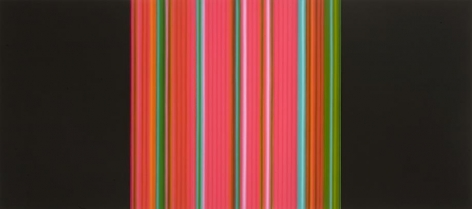 Science, 2010 / synthetic polymer on canvas, triptych / 48 x 103 inches
