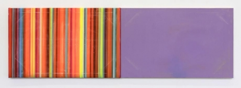 Toy Town, 2001-2015 / acrylic on canvas / 30 x 96 inches