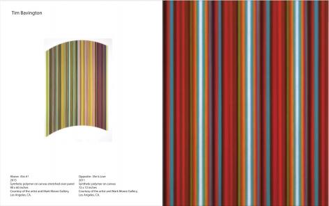 Reverb, catalogue page for Tim Bavington