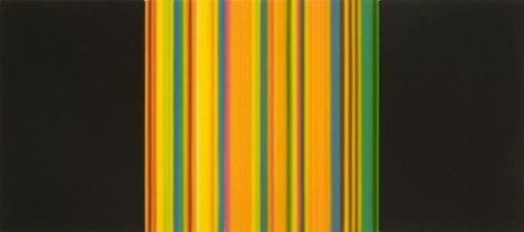 Science, 2010 / synthetic polymer on canvas, triptych / 24 x 54 inches,