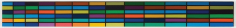 Blue Fretboard,2010, Synthetic polymer on canvas