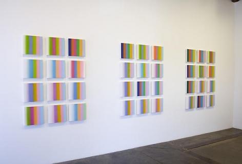 Color Chords For A, E, & G, 3 Principal/3 Relative Minor/6 Alternate (Installation view), 2008