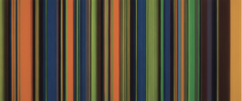 Magic, 2011, synthetic polymer on canvas, 36 x 84 inches