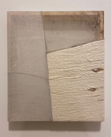 Martha Tuttle Stones chasing after one another (3), 2020 Wool, linen, silk, and quartz0 16 x 14 inches