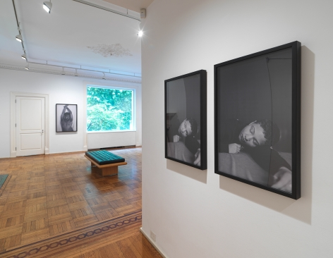 This image is an installation view of Texas Isaiah's photographs installed at Tilton Gallery.
