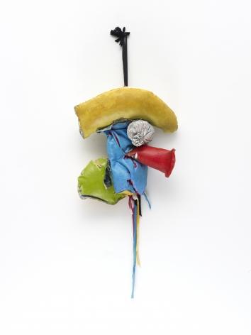 "John Outterbridge ""Rag and Bag Idiom III"", 2012 Mixed media 34 x 14 x 7-1/2 inches"