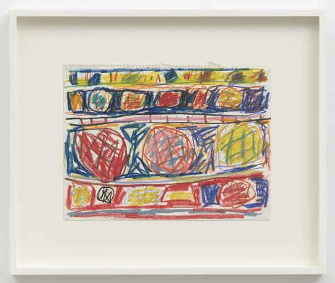 Stanley Whitney Untitled, 1991 Water-soluble crayon on paper 9 3/4 x 12 1/2 inches