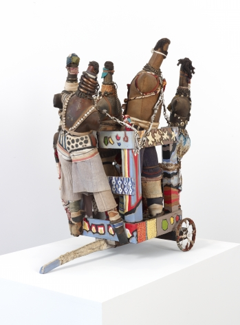 """John Outterbridge """"Captive Image #1, Ethnic Heritage Series"""", 1981 Mixed media 31 x 28-3/4 x 15 inches"""
