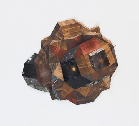 Yashua Klos Diagram of Darkness Between Stars (Wooden Dandelion Form), 2013