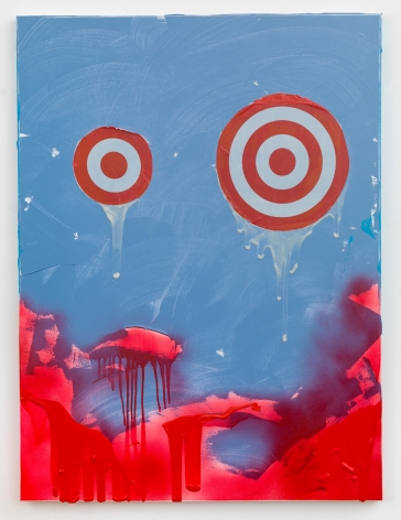 """Brenna Youngblood, """"I Want to See You"""", 2017, Plastic, matte medium, and acrylic on canvas, 48 x 36 inches"""