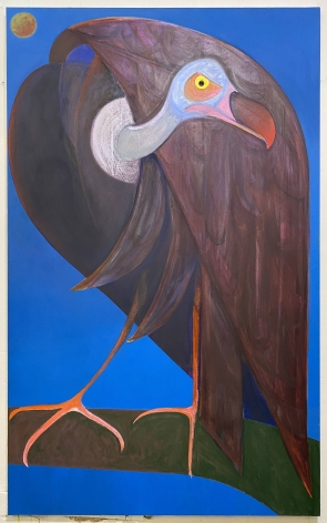 "Antone Könst, ""Vulture"", 2020, oil on canvas, 78 inches by 48 inches."