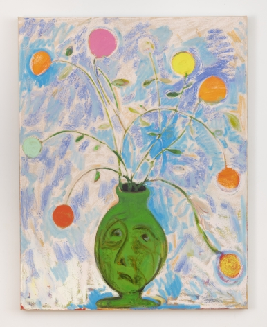 """Antone Könst, """"Vase Face"""", 2019, oil on canvas, 54 inches by 42 inches."""
