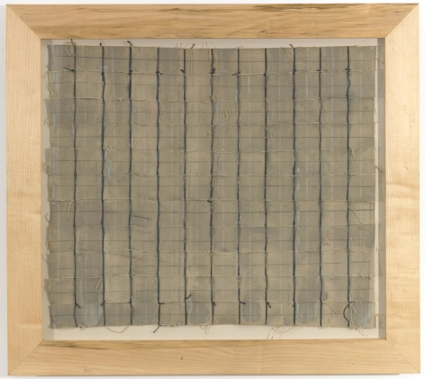 "Louise Fishman ""Untitled"", 1972 Acrylic, pencil, thread and canvas 20 1/2 x 23 1/2 inches"