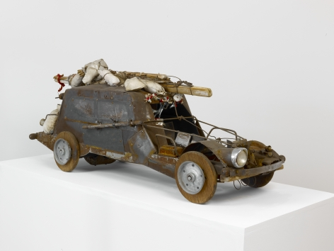 """John Outterbridge """"Crack in the Road"""", 1990 Mixed media 17-1/2 x 47 x 15 inches"""