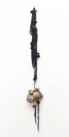 """John Outterbridge """"Bags"""", 2011 Mixed media variable x 9-1/2 x 7 inches"""