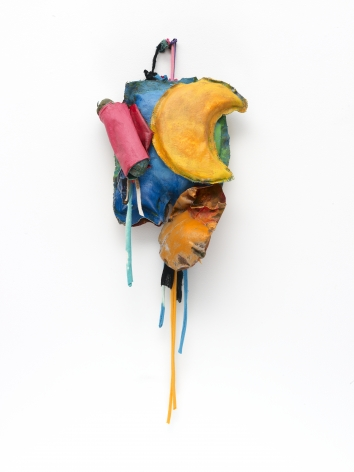 "John Outterbridge ""Rag and Bag Idiom IV"", 2012 Mixed media 32 x 12 x 5-3/4 inches"
