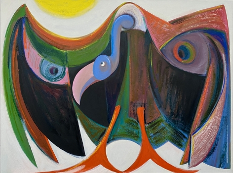 "Antone Könst, ""Vulture"", 2020, oil on canvas, 36 inches by 48 inches."