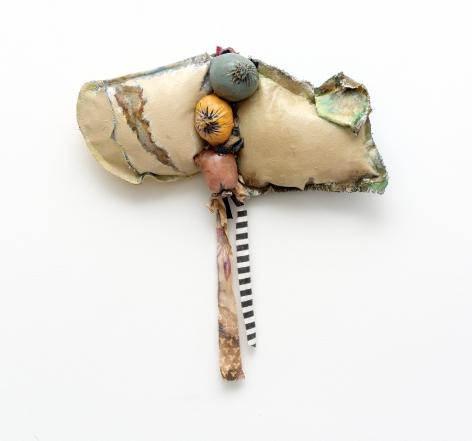 "John Outterbridge ""Rag and Bag Idiom II"", 2012 Mixed media 19 x 18-1/2 x 2-1/2 inches"