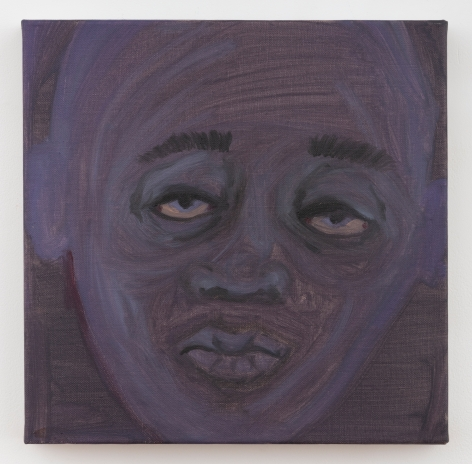 """February James, """"Learn to Speak When You Are Afraid"""", 2020, oil, oil pastel, watercolor and acrylic on linen, 12 inches by 12 inches (31 centimeters by 31 centimeters). Painting by the artist February James."""