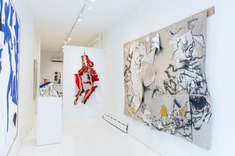 Installation view 'Oliver Lee Jackson: Untitled Original', New York, 2018