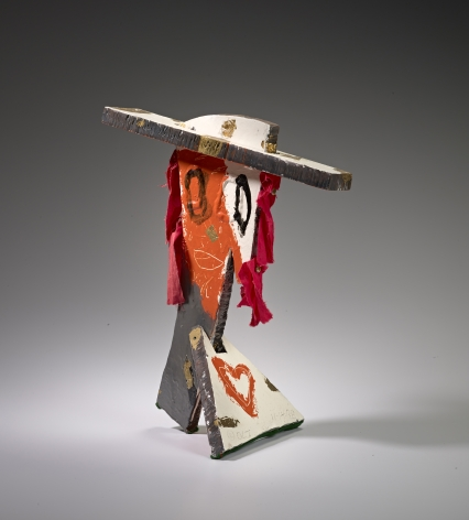 Steel and mixed media sculpture