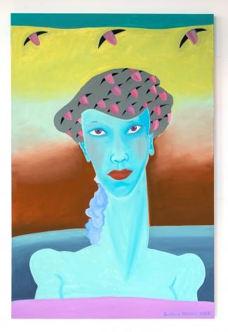 Barbara Nessim, Beret of Tongues, 2020