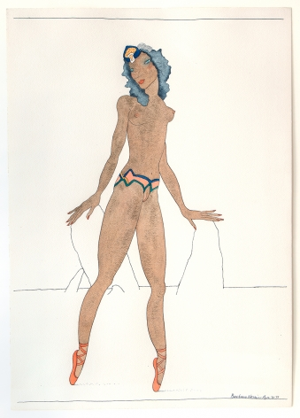 Barbara Nessim, Womangirl Moving Mountains, 1973