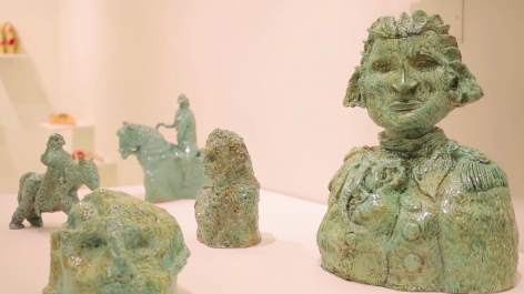 Installation view, 'Valerie Hegarty: American Berserk', 2016.