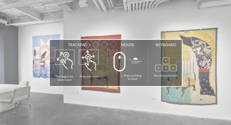 An interactive virtual tour of the Jesse Krimes exhibition American Rendition