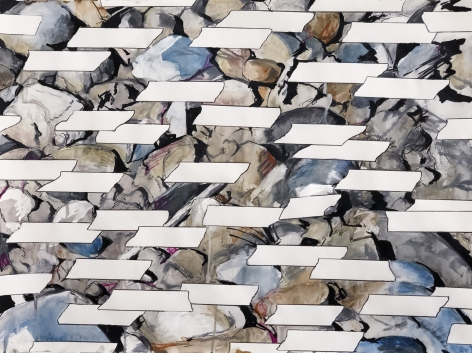 Field of Tapes over Rocks