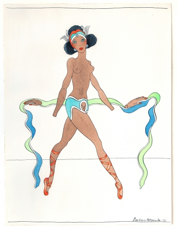 Barbara Nessim, Womangirl with Hands Off, 1972